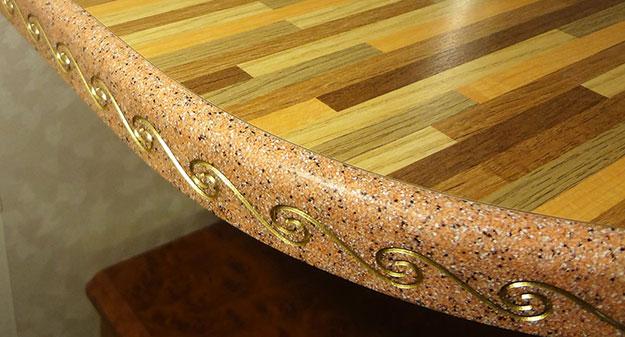 Новости технологии изготовления столешниц с торцом из жидкого камня