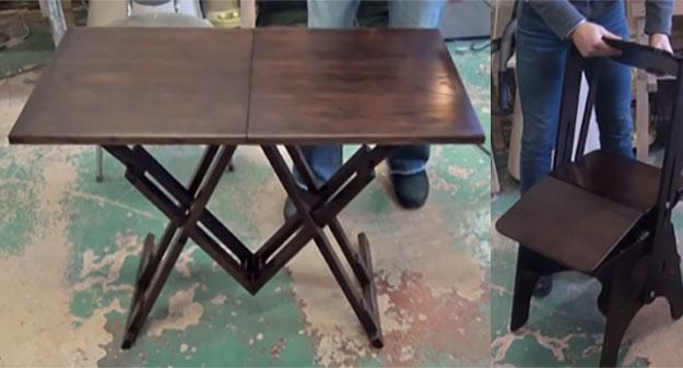 Стол-трансформер и стул-трансформер из мастерской Гардта